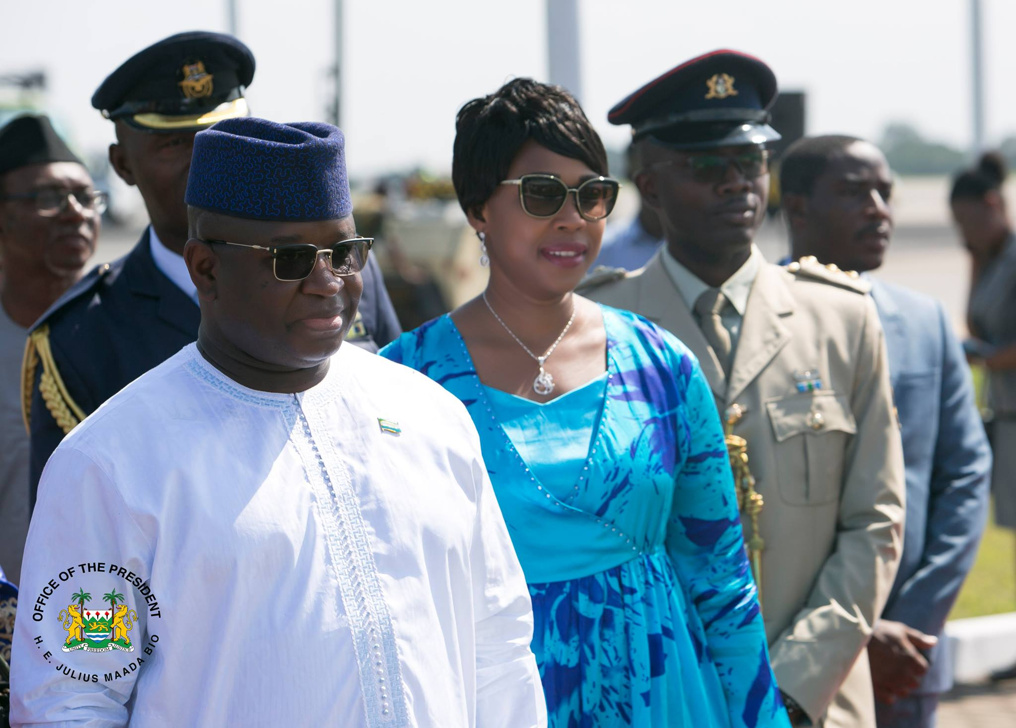President Bio and First Lady Visit 34, Connaught and Emergency Hospitals