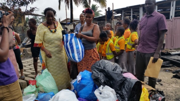 Excel School Donates To Fire Victims
