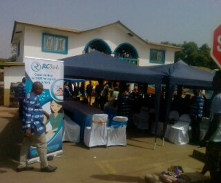 Resident Minister Opens Rokel Bank in Kabala