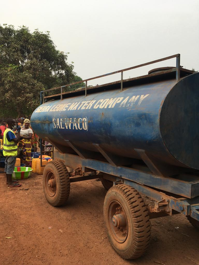 Kono Residents Applaud SALWACO water supply during lockdown