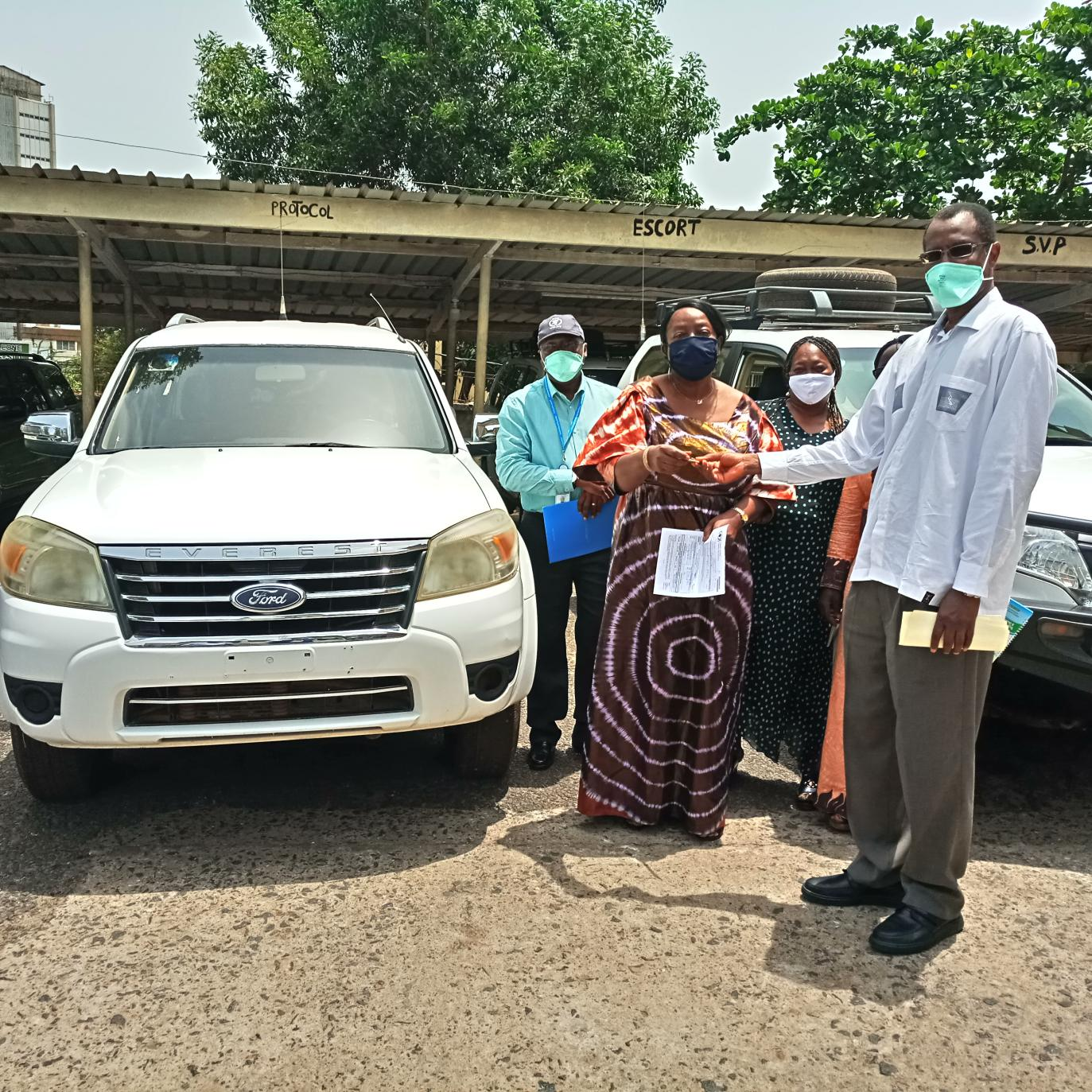 WFP Donates Vehicles and other Items to MAF, MBSSE and the SUN Secretariat